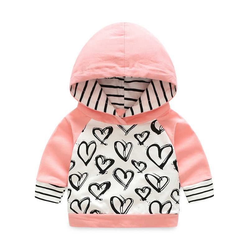 Lovely baby outfit with hood