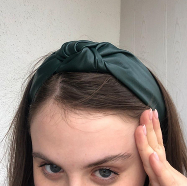 Headband padded in eco-leather