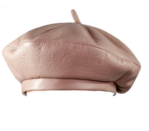 Paris hat in eco-leather