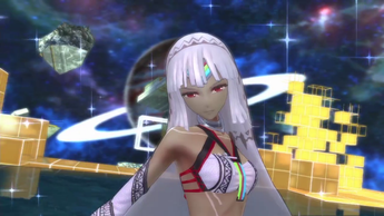 Altera, the Maiden of Destruction, Demonstrates Her Power