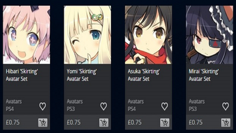 New Senran Kagura Avatars Now Available on the PlayStation Store