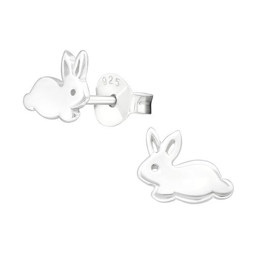 Children's Sterling Silver Bunny Stud Earrings