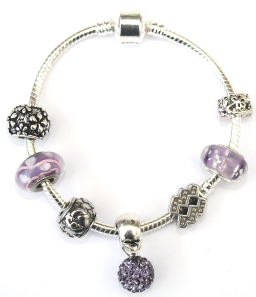 Aquarius 'The Water Bearer', Zodiac Sign Silver Plated Charm Bracelet (Jan 20- Feb 18)