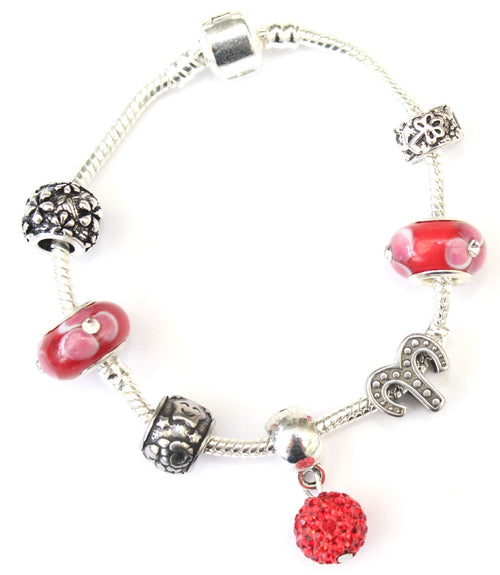 Aries 'The Ram',  Zodiac Sign Silver Plated Charm Bracelet (Mar 21- Apr 19)