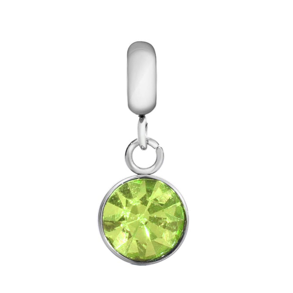 Children's 'August Birthstone' Peridot Coloured Crystal Drop Charm