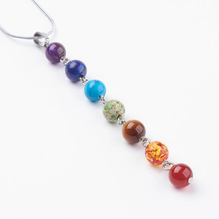 Adult's Chakra Gemstone Beads Drop Earrings