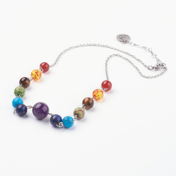 Adult's Chakra Princess Style Gemstone Necklace
