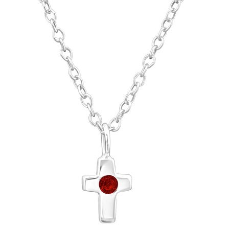 Children's Sterling Silver 'August Birthstone' Flower Necklace