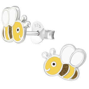 Children's Sterling Silver Buzzy Bee Stud Earrings