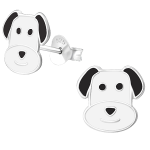 Children's Sterling Silver Dog Stud Earrings
