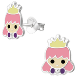 Children's Sterling Silver Princess Stud Earrings