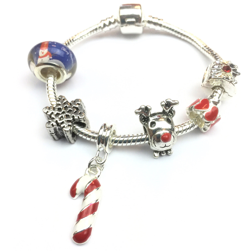 Children's 'Christmas Wishes' Silver Plated Charm Bracelet