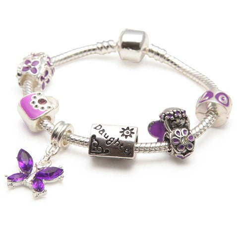 Children's Daughter charm Purple Fairy Dream charm Bracelet