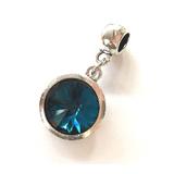 December Birthstone Turquoise  Coloured Crystal Drop Charm