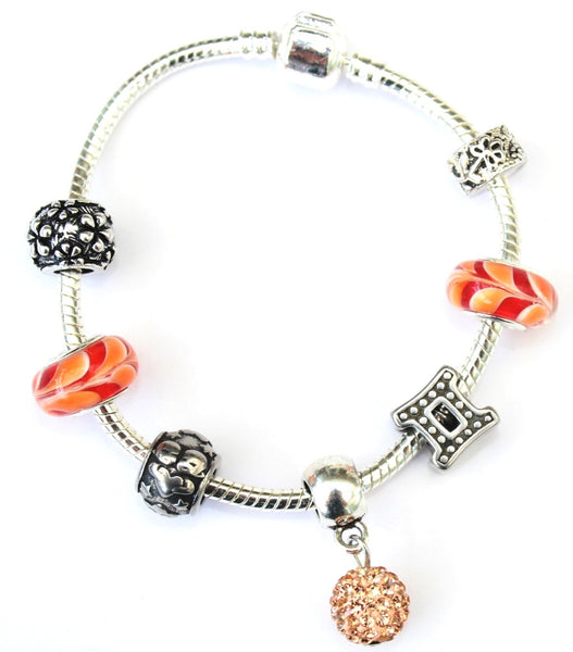 Gemini 'The Twins',  Zodiac Sign Silver Plated Charm Bracelet (May 21- June 20)