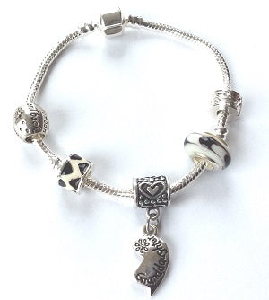 Teenager's 'Granddaughter Half Heart Love Always' Silver Plated Charm Bracelet