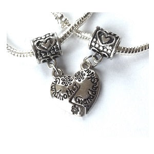 Adult's 'Granddaughter Half Heart Love Always' Silver Plated Charm Bracelet