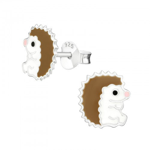 Children's Sterling Silver Hedgehog Stud Earrings