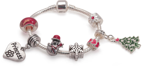 Children's 'Princess Christmas Dream' Silver Plated Charm Bracelet