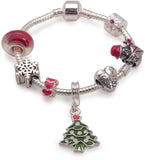 Children's 'Best Friend Christmas Dream' Silver Plated Charm Bracelet