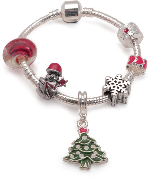 Children's 'Christmas Dream' Silver Plated Charm Bracelet