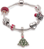 Adult's 'Mum Christmas Dream' Silver Plated Charm Bracelet