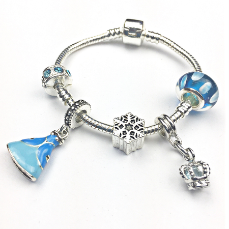 Children's 'Magical Unicorn 10th Birthday' Silver Plated Charm Bead Bracelet