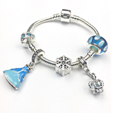 snow princess charm bracelet
