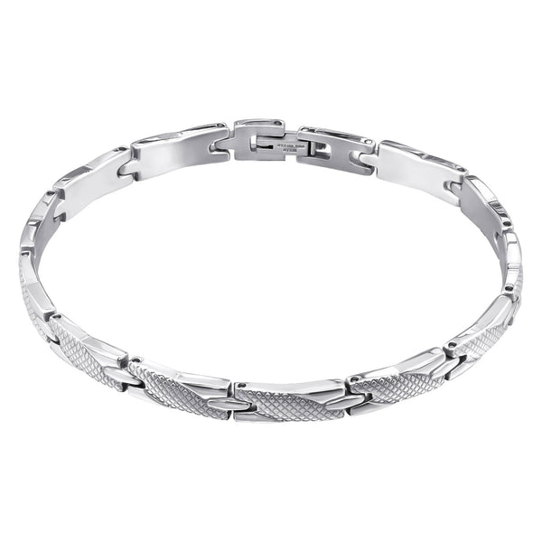 Men's 'Denver' High Polish Stainless Steel Interweave Bracelet