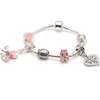 Children's Big Sister 'Love to Dance' Silver Plated Charm Bracelet