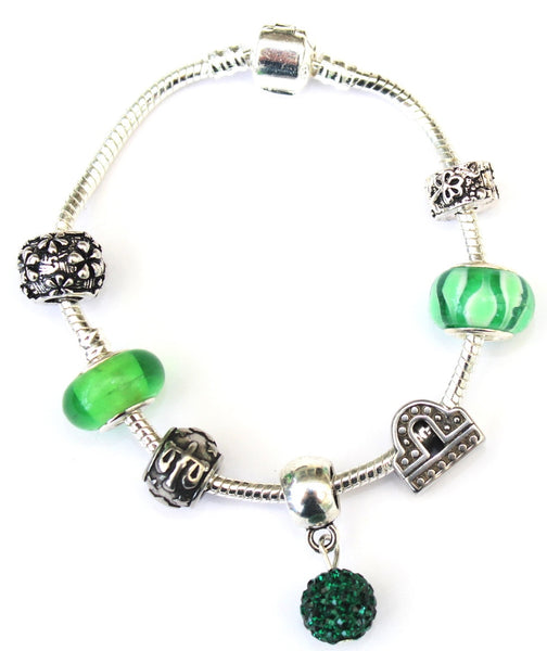 Libra 'The Scales', Zodiac Sign Silver Plated Charm Bracelet (Sept 23- Oct 22)