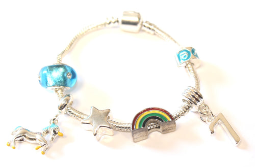 Unicorn Jewellery Bracelet 7th Birthday Gifts Girl And Charm For 7