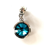 March Birthstone Aqua Coloured Crystal Drop Charm