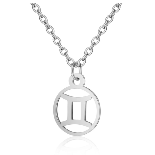 Children's Zodiac Sign Pendant Necklace  Gemini (May 21-June 20)
