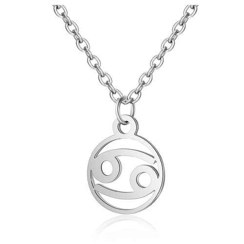 Children's Zodiac Sign Pendant Necklace  Cancer (June 21-July 22)