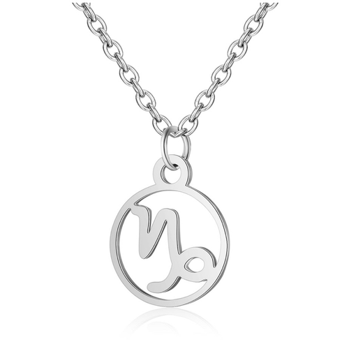 Children's Zodiac Sign Pendant Necklace  Capricorn (December 22-January 19)