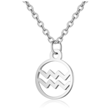 Children's Zodiac Sign Pendant Necklace  Aquarius (January 20-February 18)