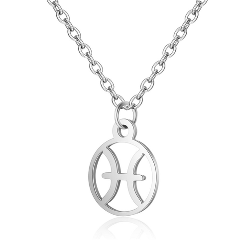 Children's Zodiac Sign Pendant Necklace  Pisces (February 19-March 20)