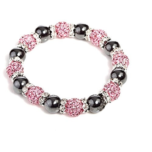 Czech Crystal and Haematite Stretch Bracelet