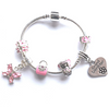 Children's Granddaughter 'Pink Fairy Dream' Silver Plated Charm Bead Bracelet
