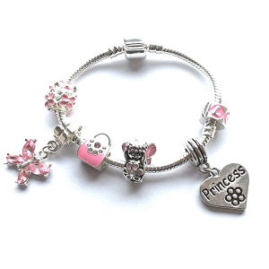 Children's Daughter 'Fairytale Dreams' Silver Plated Charm Bead Bracelet