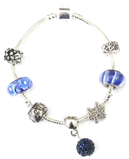 Pisces 'The Fish',  Zodiac Sign Silver Plated Charm Bracelet (Feb 19- Mar 20)