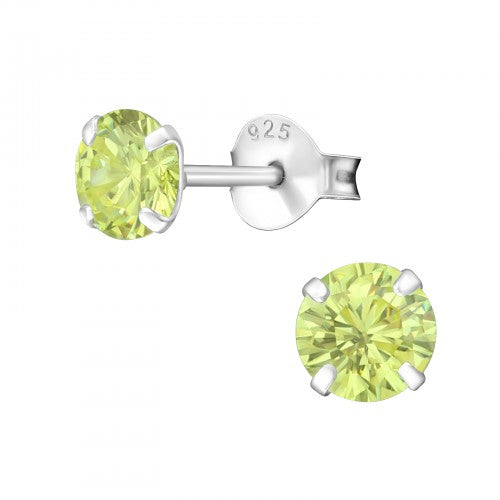Children's Sterling Silver 'August Birthstone'  Stud Earrings