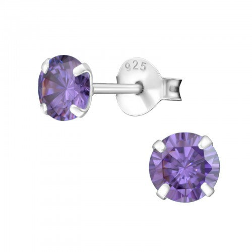 Children's Sterling Silver 'June Birthstone'  Stud Earrings