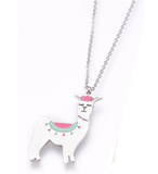Children's Silver Coloured Llama Pendant Necklace