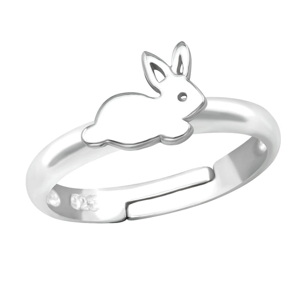 Children's Sterling Silver Adjustable Rabbit Ring