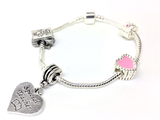 Silver plated Wise Owl bracelet special Teacher gift idea side view