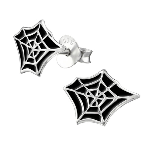 Copy of Children's Sterling Silver Halloween 'Spider's Web' Stud Earrings