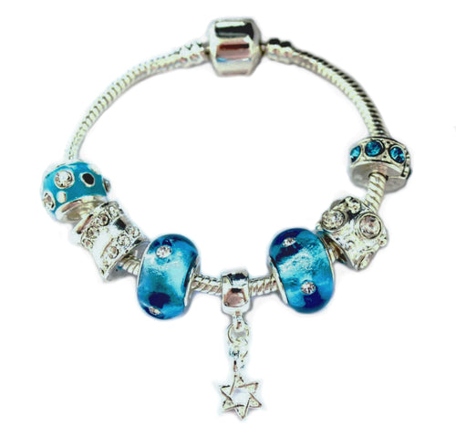 star of david charm bracelet for girls at Hanukkah, Rosh Hashanah or Passover