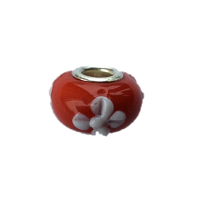 'Tahiti Flower' Bead With Silver Plated Core